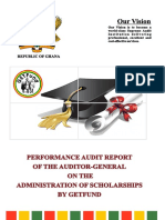Performance Audit Report of the Auditor General on the Administration of Scholarships by Getfund