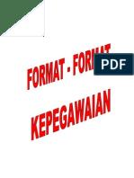 Format Format Kepegawaian