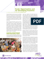 Functional Foods Opportunities and Challenges for Developing Countries