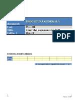 PG - 01, ed.1Controlul documentelor SMI