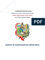 402 Manual de Clasificador de Cargos - MCC MDL 2019 Ok