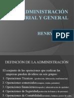 PRESENTACION ADMINISTRACIÓN INDUSTRIAL Y GENERAL