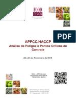 APPCC base Codex Alimentarius - 22 a 24-11-2019