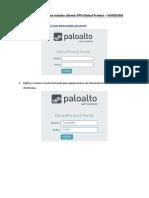 Procedimento VPN - Palo Alto
