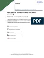 Urban greening, property and more-than-human commoning
