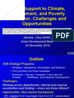 ADB's Support to Climate, Environment, and Poverty Reduction