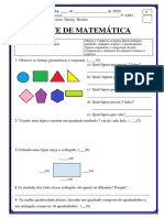 Teste de matematica 3 ano 1bim