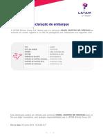 DECLARAÇÃO DE EMBARQUE - DANIEL MARTINS MR BRESSAN