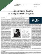 GODINHO - Para Uma Reforma Do Crime de branqueamento de capitais - Parte 1 - HojeMacau - 2 Dez 2010