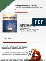 Research Methodology by C.R.kothari