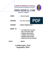 Group Vi Modern Medical Care
