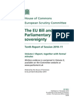 The EU Bill and Parliamentary Sovereignty