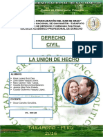 INFORME DE UNION DE HECHO