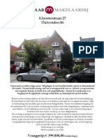 Brochure Kloosterstraat 27