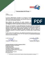 Communiqué de pompiers du Loiret, suite aux révélations de France Bleu Orléans