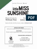 Little Miss Sunshine - Libretto Vocal Book