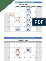 pep band calendar template