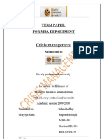 Ankur-mpob Term Paper2003