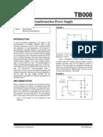 Transformer Less Power Supply Calculation