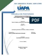 TAREA UNIDAD I. Conceptos generales de recursos, medios y materiales