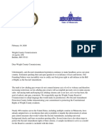 Pro-Second Amendment Protection Letter to Wright County Board