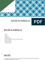 REVISÃO DE HIDRÁULICA