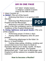 Islam in One Page