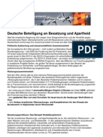 2010 Flugblatt Deutsche Beteiligung an Besatzung und Apartheid