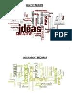 Personal Learning & Thinking Skills Word Mats