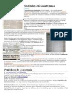 Historia del periodismo en Guatemala
