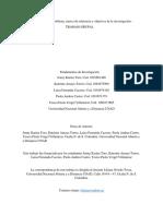 Paso 3. Formular el problema, marco de referencia y objetivos de la investigación - TRABAJO GRUPAL