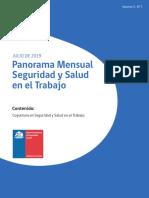Panorama Mensual Seguridad y Salud en el Trabajo julio 2019.