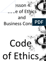 Lesson 4 code of ethics