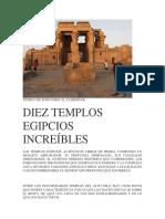 10 TEMPLOS  EGIPCIOS.