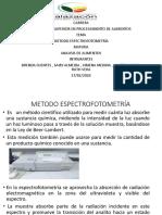 METODO ESPECTROFOTOMETRÍA