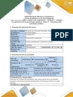 Guía de actividades y rubrica de evaluación - Paso 3 - funciones del psicólogo jurídico.docx