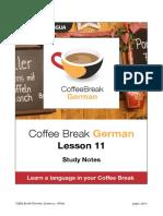 Coffee Break German. Lesson 11. Study Notes.pdf