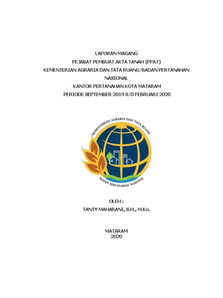 Laporan Magang Ppat Kantor Bpn Kota Mataram