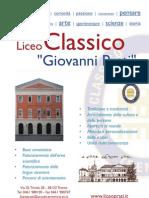 """Opuscolo di presentazione del Liceo Classico """"Giovanni Prati"""" di Trento"""