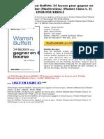 warren-buffett-24-lecons-pour-par-james-pardoe