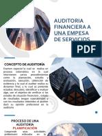 AUDITORIA FINANCIERA A UNA EMPRESA DE SERVICIOS