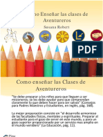Como Enseñar las clases de Aventureros. Susana Robert