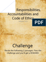Rights, Responsibilities, Accountabilities and Code of Counsselors