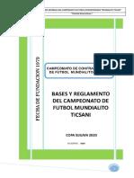 BASES GENERALES DEL CAMPEONATO 2020