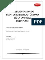 Implementacion de Mtto Autonomo en la empresa de Plasticos POLINPLAST -1
