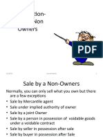 Sale by Non Owners
