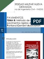 TEMA 8 Método de diseño de pavimentos rígidos de la Portland Cement Association