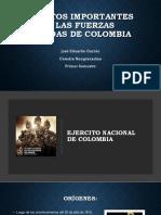 Aspectos importantes en las Fuerzas Armadas de Colombia