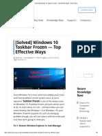 [Solved] Windows 10 Taskbar Frozen - Top Effective Ways - Driver Easy.pdf