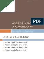 Modelos y Teorias de la Constitucion